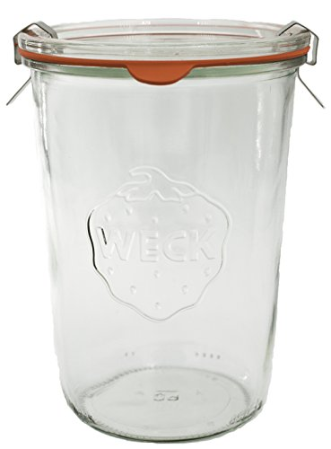 Weck Bocal - Barattolo con coperchio, Vetro, Trasparente, 850 ml