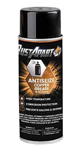 Anti Seize Spray Lubricant   Copper   Thread Compound   Bolt Grease   Automotive   Sieze   Lube   Never Cease Temp   Spark Plug   Paste   Antisieze   Neversieze   12 OZ Aerosol Can   BustApart