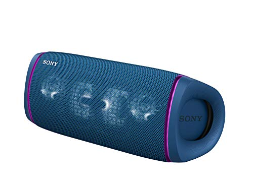 Sony SRS-XB43 Wireless Extra Bass Bluetooth Speaker with 24 hrs Battery, Party Lights, Party Connect, Waterproof IPX67, Dustproof, Rustproof, Speaker with Mic, Loud Audio for Phone Calls/WFH (Blue)