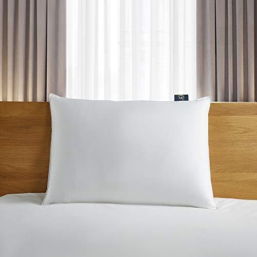 Serta 300 Thread Count White Down Fiber Bed Pillow, Back Sleeper, King