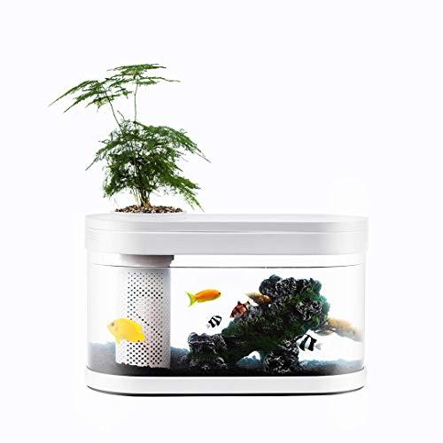 NEVERLAND XIAOMI Geometry Fish Tank Aquaponics Ecosystem Small Water Garden Home Decor