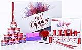 Dip Powder Nail Kit - Beginners DIY Dipping Powder Nail Kit Starter Set With Everything Inc 10 Acrylic Dip Nail Powder Color, Liquids, Supplies, Nail Dip Powder Kit To Use At Home Or Dip Nail Kit Gift