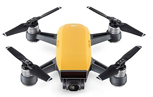 DJI Spark Fotocamera 12 MP, Video Full HD, Autonomia di Volo 16 Minuti, Piccolo, Leggero e Potente, Sensore Rilevamento Ostacoli, Giallo