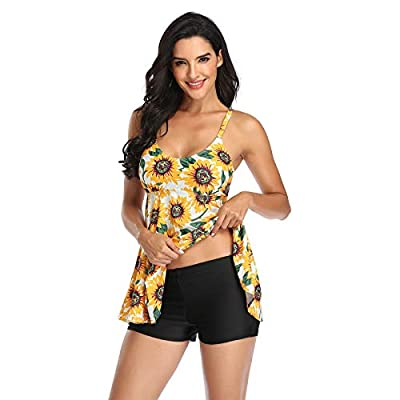 ❤️❤️To Make sure you get the right size, we recommend that you use our size chart instead of the size chart given by Amazon, Thanks!! 💕💕 women swimsuits for women swimsuit shorts one piece over cover bottoms swimwear for one piece shorts tankini cove...