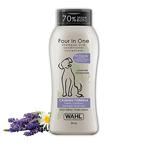 Wahl 4-in-1 Calming Pet Shampoo – Cleans,...