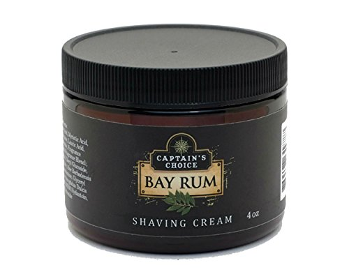 Captain's Choice Bay Rum Shaving Cream 4 Oz