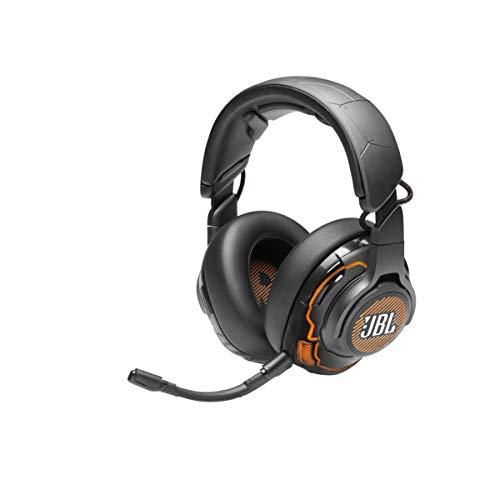 JBL Quantum ONE Auriculares para gamers con tecnología QuantumSPHERE 360 y sensor de movimiento de cabeza, diseño llamativo, color negro