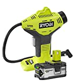 Ryobi P737 18-Volt ONE+ Cordless Power Inflator with P108 18-Volt ONE+ Lithium-Ion 4.0 Ah Lithium+ High Capacity Battery