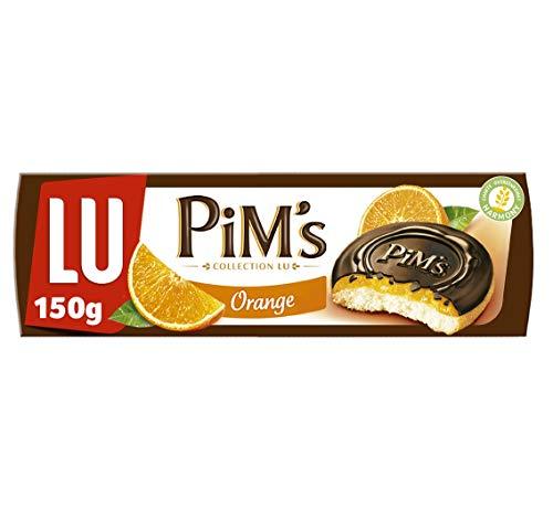 Lu Pim's Galletas Rellenas de Naranja y Cubiertas de Chocolate Negro, 150g