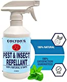 Organic Home Pest Control Spray Repellent – Mint -100% Natural -Peppermint Oil – Repels and Kills insect, Ants, Roaches, flies, Spider- Child/ Pet Safe- 16 OZ