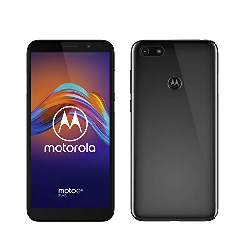"Motorola Moto E6 Play - Pantalla 5,5"", Cámara Frontal 5MP y cámara Trasera 13MP, 2GB de RAM, 32GB, Android 9.0, Dual SIM"