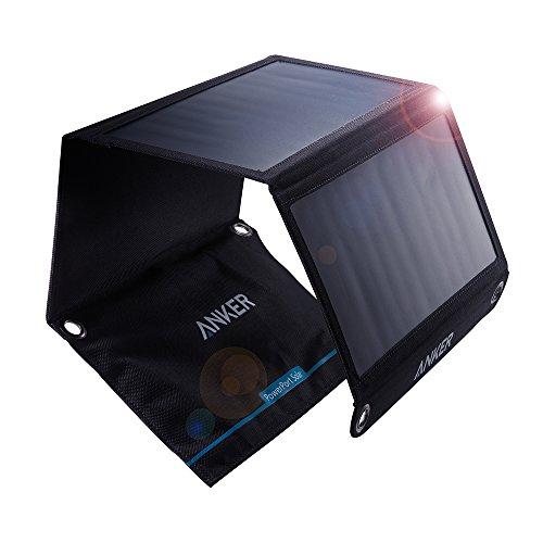Anker PowerPort Solar (21W 2ポート USB ソーラーチャージャー)【PowerIQ搭載】 iPhone 11 / 11 Pro / 11 …