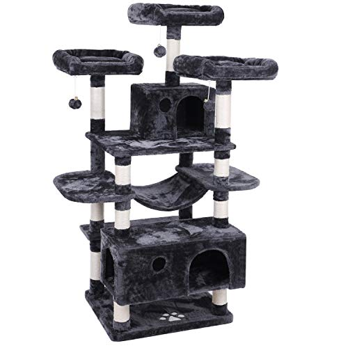 BEWISHOME Large Cat Tree Condo with Sisal...