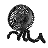 6-Inch Versatile Fan, 10000mAh Battery Powered Clip On Fan With 53H Long Working Time for Hurricane Outage, 4 Speeds, Strong Wind, Sturdy Tripod, 360° Rotate Ultra Quiet USB Fan for Stroller Treadmill Tent