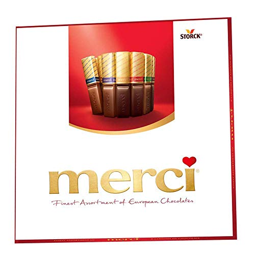 MERCI Finest Assortment of European Chocolate Candy, 7 Ounce Box, Contains Eight European Chocolate Varieties, Chocolate Candy, Assorted Candy (New Version)
