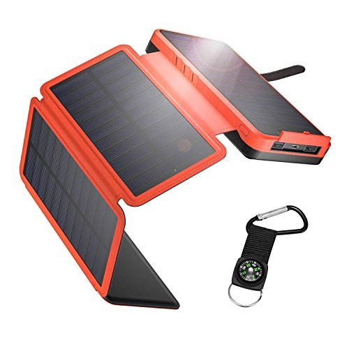 IEsafy Powerbank Solare 26800mAh, Caricabatterie...