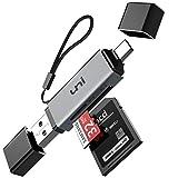 uni Lector de Tarjeta SD de USB C, Lector de Tarjetas Memoria de USB 3.0 y USB-C para SD/Micro SD, Apoyar Uso Tarjeta SD/Micro SD/SDHC/SDXC/MMC. Compatible con MacBook Pro, iPad Pro etc