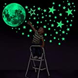 Konsait Luminoso Pegatinas de Pared, 435pcs Puntos Luna y Estrellas Adhesivos Decorativo de Pared...