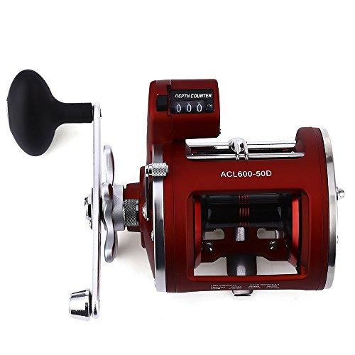 Mulinello da pesca con bobina sul lato sinistro/destro, 12 cuscinetti a sfera con moltiplicatore di profondit elettrico, attrezzatura da pesca con bobina da 30D / 50D., Left Hand - 50D