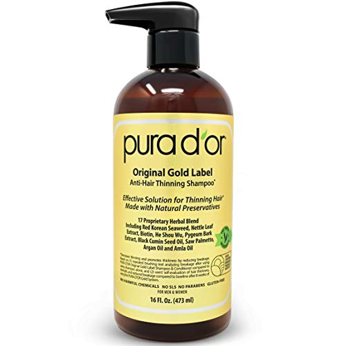 PURA D'OR Original Gold Label Anti-Thinning Biotin Shampoo (16oz) w/...