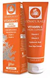 OZNaturals Vitamin C Face Wash: Natural Facial Cleanser for Oily, Dry, and Sensitive Skin - Paraben Free Face Cleaner for Men and Women - Daily Facial Cleansers for Aging Skin - 4 Fl Oz