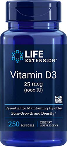 Life Extension, Vitamin D3, 1.000 IU, 250 Weichkapseln, sojafrei, glutenfrei