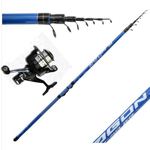globe fishing Canna Bolognese mt.7 con Mulinello 3000 Pesca Galleggiante cavedano spigola Mare