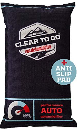 Clear To Go Auto Entfeuchter - Entfeuchter Kissen Für Beschlagene Autoscheiben - Luftentfeuchter für das Auto - 1kg Silikagel Auto, Wohnmobile - Feuchteabsorber - wiederverwendbarer Luftentfeuchter