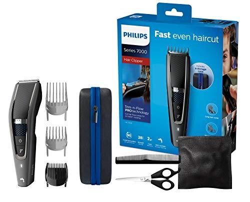 Philips HC7650/15 Tondeuse Cheveux et Barbe Series 7000 avec Housse de Voyage et Kit Coiffure