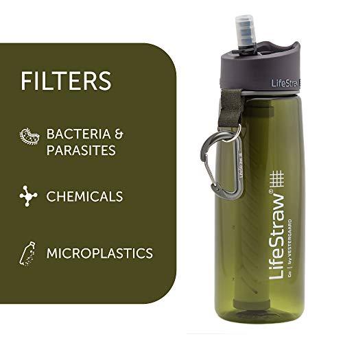 LifeStraw Go d'Eau Bouteille avec Paille de Filtre intégrée Filter...