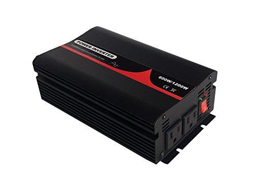50HZ 60Hz切替可純正弦波インバーター 定格600W 最大1200W 輸入DC12V 輸出AC100V