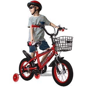 LBLA 14T Sports Kids Bicycle with Rear Seat for 3-5 Years - Red