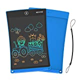 NEWYES 8.5 Inches Colored Doodle Board for Toddlers LCD Screen Writing Tablet with Lock Function Magnetic Drawing Board Erasable Doodles Notepad for Boys Kids Ages 3+ Blue with Lanyard
