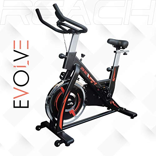 Reach Evolve Spin Bike   Exercise Fitness Cycle Spinning Bike (18 Kg Flywheel) (No-Cost EMI Available)