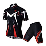 X-TIGER Cyclisme Maillot Manches Courtes+Gel 5D Dous-Vêtements...