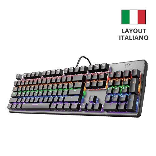 Trust Gaming GXT 865 Asta Tastiera Meccanica Gaming, Switch Red (Tasti Meccanici Rosso),...