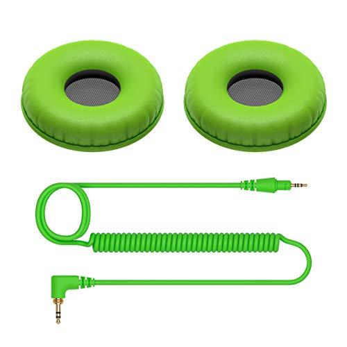 Pioneer HC-CP08 Cuscinetti E Cavo SPIRALATO per Cuffie Pioneer HDJ-CUE1 (Verde)