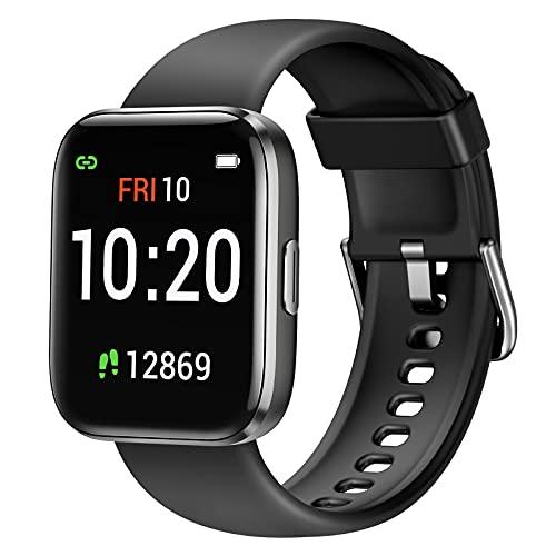 Letsfit Smartwatch, Fitnessuhr mit Schrittzähler, Fitness Tracker IP68 Wasserdicht Sportuhr Smart Watch mit Pulsuhr und Blutsauerstoff-Monitor für Damen Herren