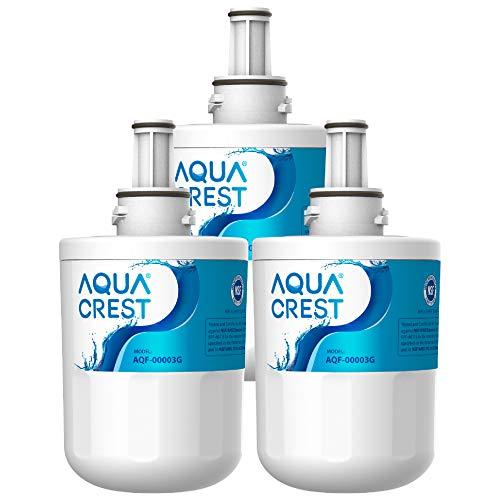 AQUACREST DA29-00003G Refrigerator Water Filter, Compatible with Samsung DA29-00003G, DA29-00003B, DA29-00003A, Aqua-Pure Plus, HAFCU1 (Pack of 3, Package May Vary)