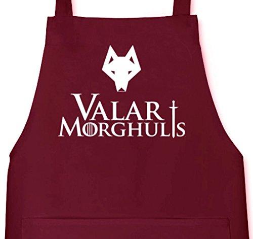 Camiseta street24, Valar moghulis Wolf, Grillen Barbecue Grill–Delantal Delantal granate