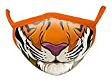Wild Republic Wild Smiles Adult Face Mask, Reusable Face Mask, Washable Face Mask, Half Face Mask, Tiger Mouth Design