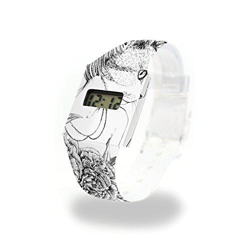 MIAU - Pappwatch - Paperwatch - Digitale Armbanduhr im trendigen Design - aus absolut reissfestem und wasserabweisenden Tyvek® - Made in Germany , absolut reißfest und wasserabweisend