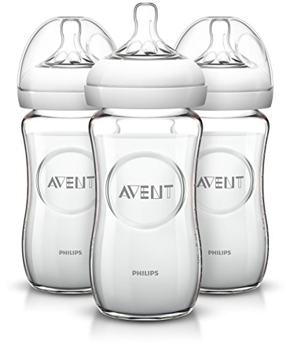 Philips AVENT Natural Glass Bottle, 8 Ounce (Pack...