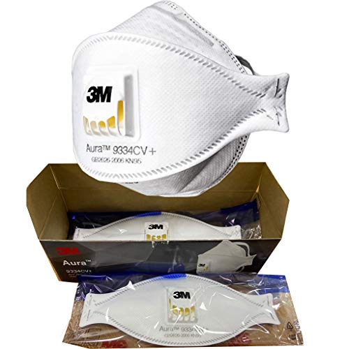 3M Serie 9334CV+ FFP3 KN95 PM2.5 (3 Pezzi) con valvola di respirazione