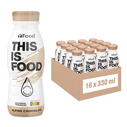 YFood Schokolade   Laktose- und glutenfreier Nahrungsersatz   22g Protein, 26 Vitamine und Mineralstoffe   Leckere Astronautennahrung - 17% des Kalorienbedarfs   Trinkmahlzeit, 16 x 330 ml (1 kcal/ml)
