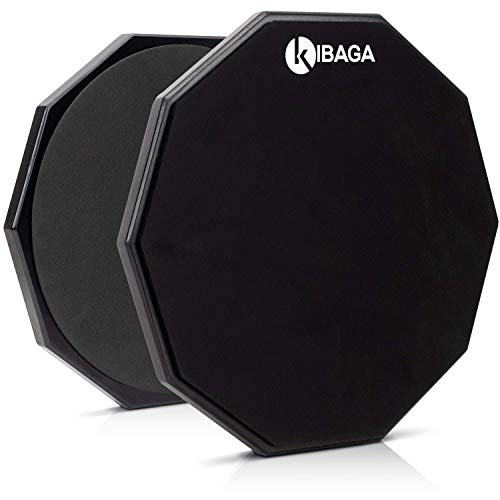 Double Sided Drum Pad 12 inches - Silent Drum Practice Pad Provides A Great Rebound - Perfect Snare Drum Pad For Quiet Workouts On Snare Drums And On Your Lap