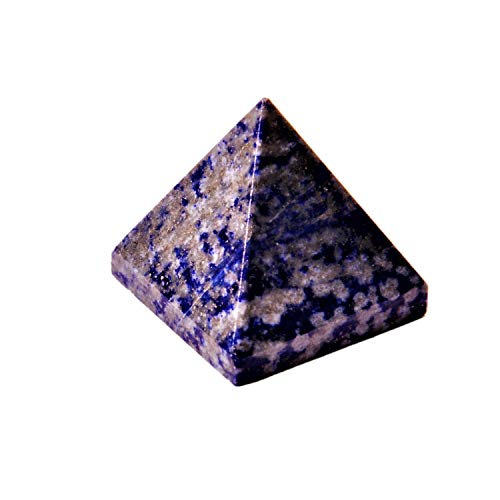 Pirámide de lapislázuli púrpura: Buena Suerte curación Encanto divino Espiritual Cristal (11338)
