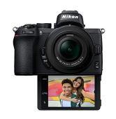 Câmera nikon z50 kit (z dx 16-50mm f/3. 5-6. 3 vr) - preto
