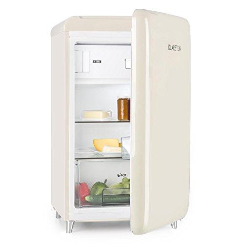 KLARSTEIN Popart Cream - Frigorifero, Congelatore, Retroilluminazione Anni '50, 108 l, congelatore...