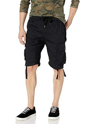 SOUTHPOLE - Pantalones Cortos para Hombre con Bolsillos de Carga en Colores sólidos y camuflados...